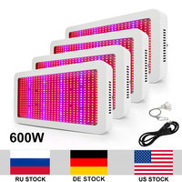 4pcs/lot 600W Full Spectrum AC85 265V SMD5730 LED Grow Light For Indoor Plants Fast Growing Flowering Whole Period
