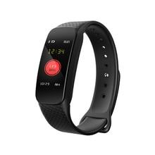 L6 pulsera inteligente impermeable presión arterial Monitor de ritmo cardíaco Fitness Tracker podómetro reloj inteligente para Xiaomi Huawei