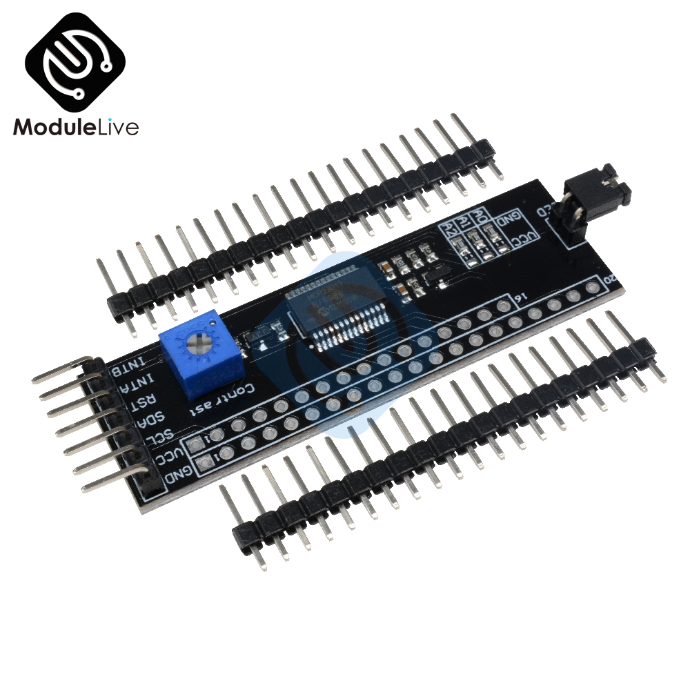 5V MCP23017 Expander 1602 2004 12864 LCD Driver Module I2C IIC Serial Interface Adapter Board Contrast Adjustment For Arduino new iic i2c twi spi serial interface board module port 5v lcd adapter converter module compatible for lcd1602 2004 lcd