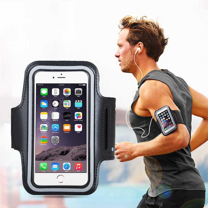Opaska na ramię pokrowiec torba case do samsung huawei xiaomi etui na telefon do biegania na zewnątrz opaska na ramię akcesoria sportowe 4.5 ''4.7'' 5.5 ''6 cal