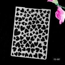 2017 New Arrival Scrapbook Heart Design DIY Paper Cutting Dies Scrapbooking Plastic Embossing Folder fd087