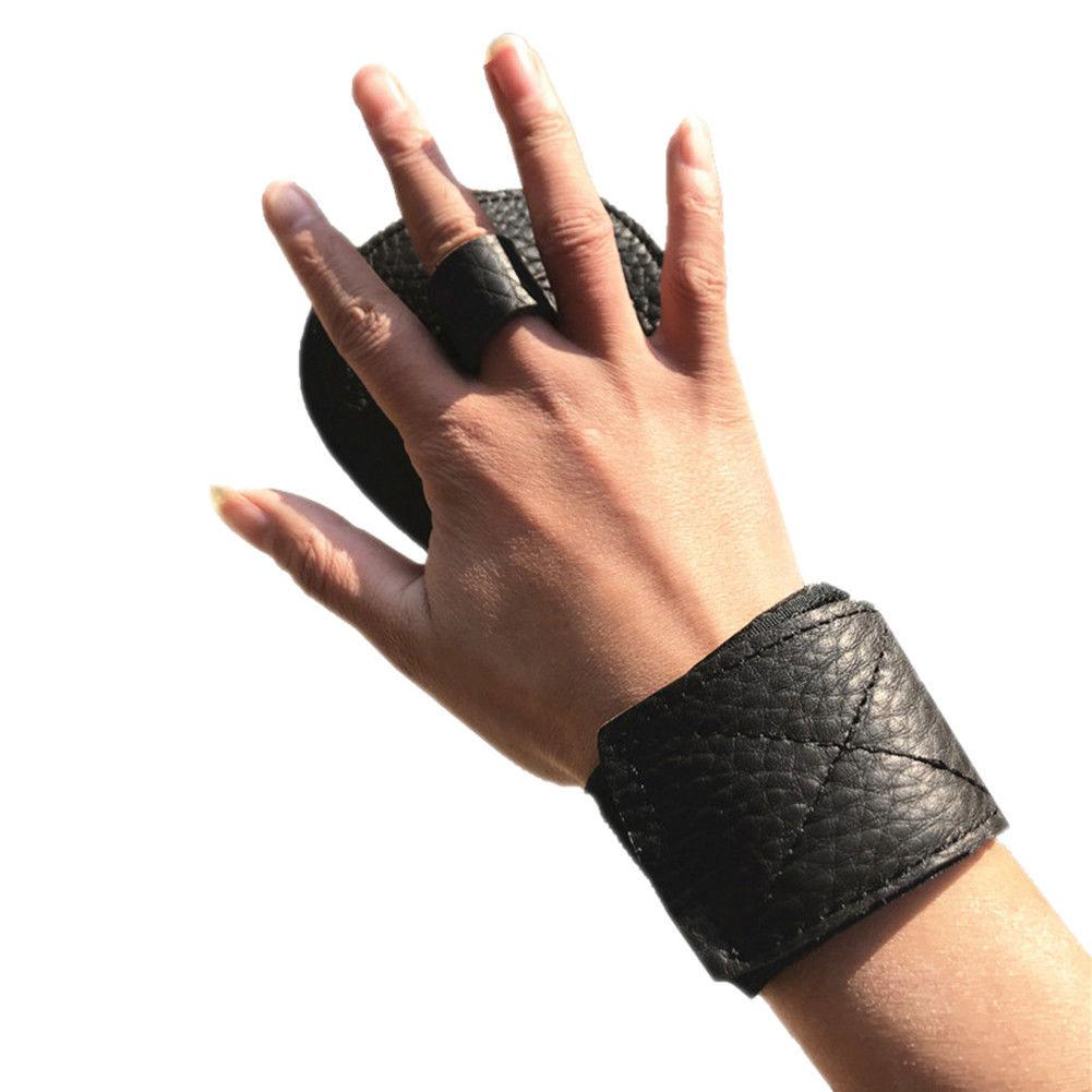 Faux Leder Fitness Handschuh Gewichtheben Workout Wrist Wrap <font><b>Gym</b></font> Sport Training image