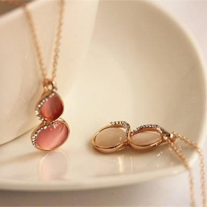 Colgante de ópalo de moda para mujer, gran oferta, nuevo estilo, colgante de calabaza, collar, accesorios de joyería para mujer