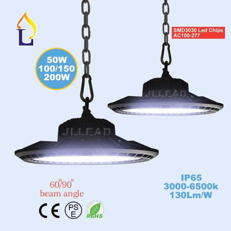 10 Pack 50W 100W 150W 200W  Led UFO High Bay Light In Industrial Lighting Outdoor 100-277V LED Spotlight Floodlights Waterproof