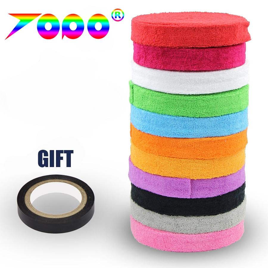 1 Reel/lot 100% Cotton Towel Badminton Grip/Overgrip(badminton/squash/tennis)
