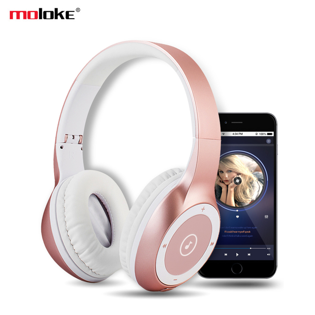 best website f3d1e ed18a US $37.51 29% OFF|Wireless Bluetooth Headphones Stereo HIFI Sports Headset  with Microphone/Micro SD MP3 Card Slot for iphone X Xiaomi-in Bluetooth ...