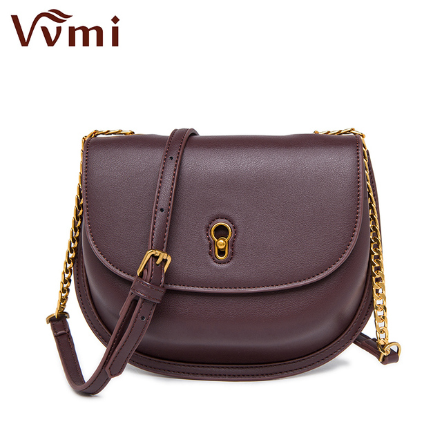 Us 51 28 Vvmi Bolsos Women Handbag Chic Vintage Classic Saddle Bag Small Chain Single Shoulder Crossbody Bags For Female In From