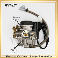 YOULII GY6 50CC Carburetor Scooter Carburetor PD18J Moped Carb for 4 Stroke GY6 SUNL ROKETA JCL Vento 50CC 110CC Scooter MOTO