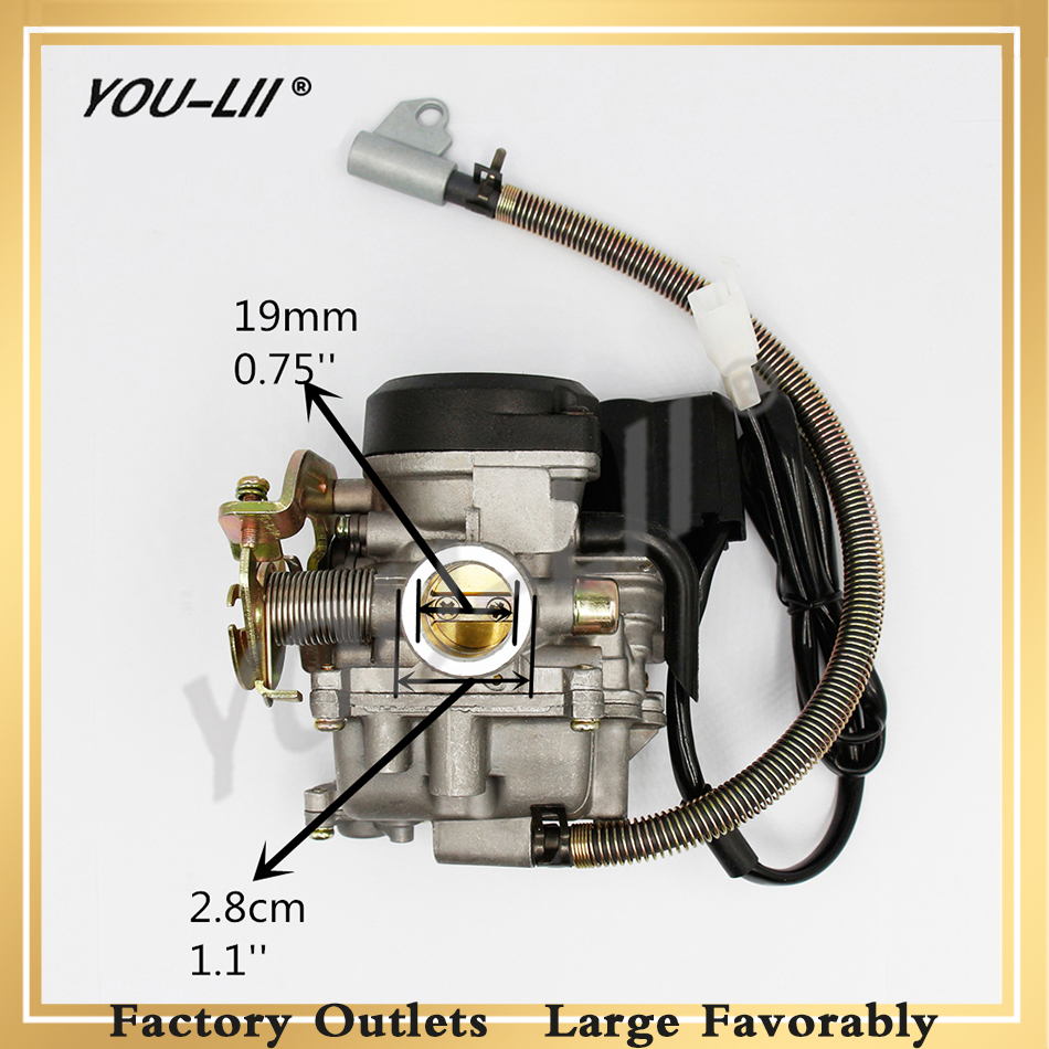 YOULII <font><b>GY6</b></font> <font><b>50CC</b></font> <font><b>Carburetor</b></font> Scooter <font><b>Carburetor</b></font> PD18J Moped Carb for 4-Stroke <font><b>GY6</b></font> SUNL ROKETA JCL Vento <font><b>50CC</b></font>-110CC Scooter MOTO image