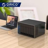 ORICO 2.5 3.5 Hard Drive Enclosure 8 Bay Network Attached Storage with RAID Gen7 SATA to USB 2.0 3.0 HDMI RJ45 HDD Enclosure