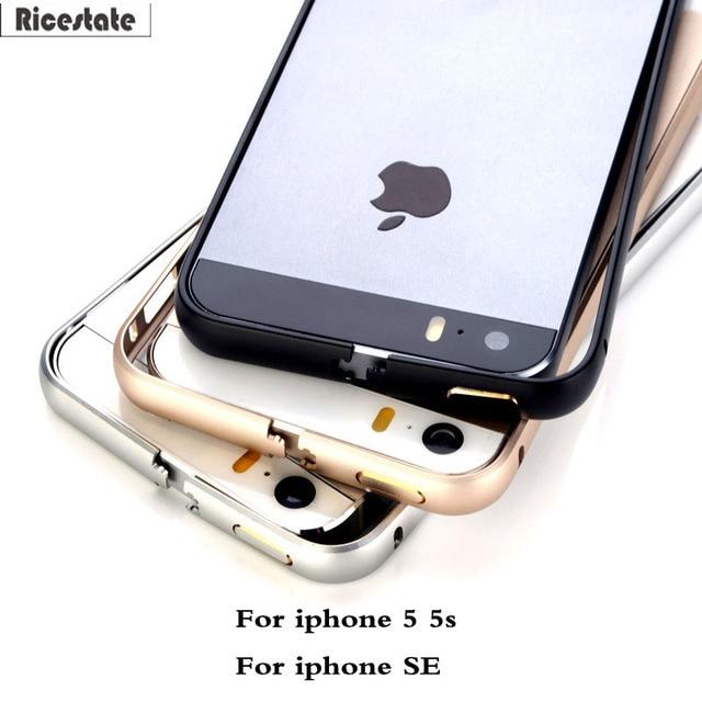 Ricestate Mỏng Thời Trang Kim Loại Bumper cho IPhone 5 SE 5 S trường hợp Thiết Kế Cao Cấp Nhôm Khung Nhà Ở Điện Thoại cho iphone5 bìa trường hợp