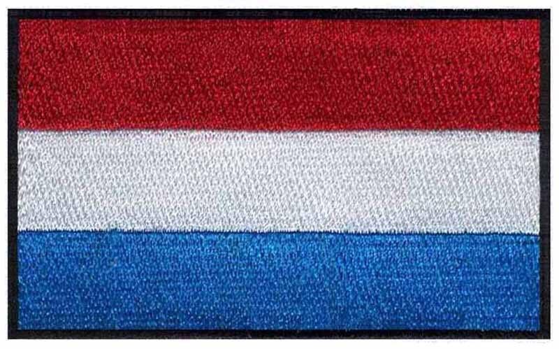 Bordado Parches de bandera logos de Luxemburgo 3