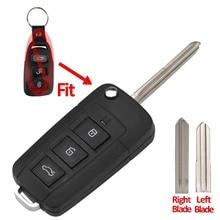 Jingyuqin 3+1 Button Modified Flip Remote Key Shell For Kia for Hyundai Elantra Sonata Genesis Car Case Fob Left/Right Blade