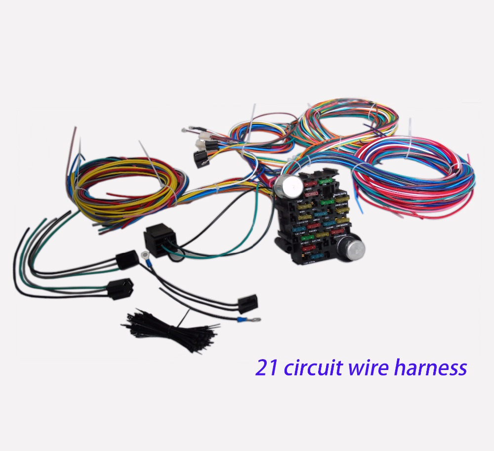 cnch 21 circuit 17 fuses box universal wiring harness hot universal extra long wires in cables adapters sockets from automobiles motorcycles on  [ 1000 x 913 Pixel ]