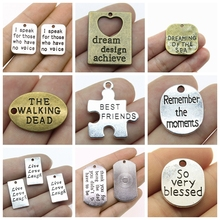 Best Friends Pendant Charms For Jewelry Making Diy Craft Supplies Encourage Text Tag Women Sellers Gifts