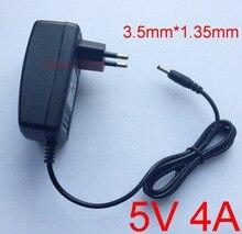 1 stücke ersatz 5 v 4a ac dc adapter ladegerät eu stecker dc 3,5mm für lenovo ideapad 100s 11iby 80r2