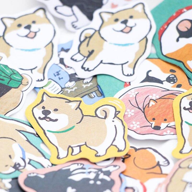 30 Pcs/Pack Kawaii Dog Shiba Inu Akita Husky Label Stickers Decorative Stationery Stickers Scrapbooking Diary Album Stick Label