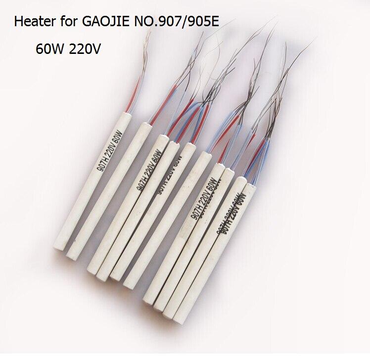 10pcs lot 907h 220v 60w adjustable constant temperature no 907 905e soldering iron core heater. Black Bedroom Furniture Sets. Home Design Ideas