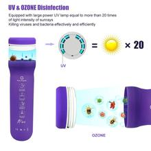 Portable UV Sanitizer Foldable Sterilizer Bottle Rechargeable Ultraviolet Light Disinfection Box for Toothbrush Makeup Brush
