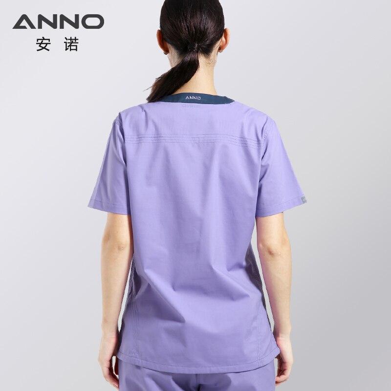 Elasticity Cotton Spandex Body Nurse Uniform Medical Nursing Scrubs For Women Hospital Suit Set Work Wear Beauty Salon Pharmacy