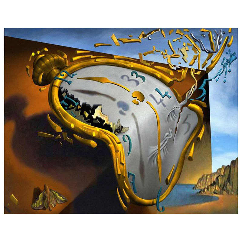 Salvador Dali 5d diy diamond painting Abstract Art Clock,diamond embroidery, mosaic kit, diamond cross stitch, home decoration