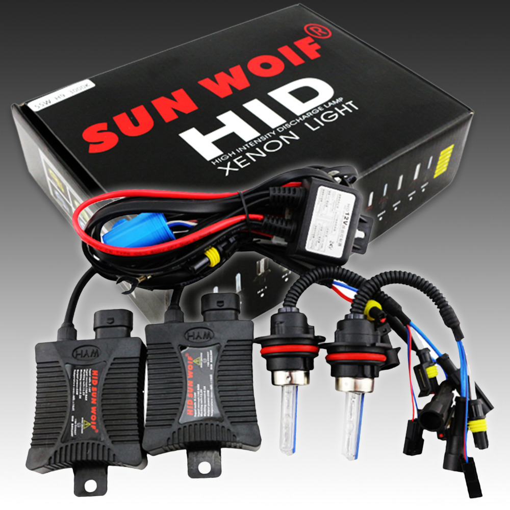 SUNWOIF Bi xenon Hid Conversion Kit Hid Kit High Low 55W Car ...