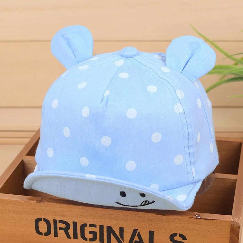... MUQGEW 2018 Dot Baby Caps smile Girl Boys Cap Summer Hats For Boy  Infant Sun Hat ffa53e3d931e
