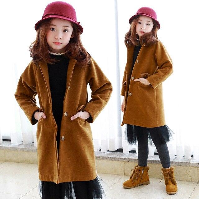 1813e5b52 teenage woolen winter jacket for girls 10 years 8 12 14 trend coats ...