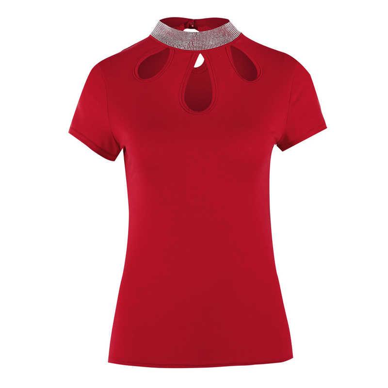 2019 женские модные летние повседневные топы на бретелях, жилет, блузка с коротким рукавом, цвет красный, желтый, Укороченная рубашка, блузки, одежда