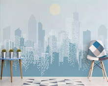beibehang Custom large 3d wallpaper modern fashion abstract city sunrise background wall for walls 3 d carta da parati