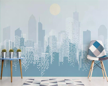 beibehang Custom large 3d wallpaper modern fashion abstract city sunrise background wall wallpaper for walls 3 d carta da parati wallpaper city guide milan 2014