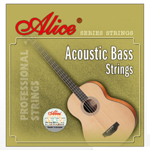 1 Set Original Alice 4-String Acoustic Bass Strings Hexagonal Core Coated Copper Alloy Wound Nickel-Plated Ball-End A618-L