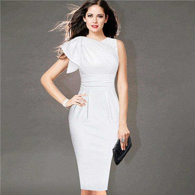 Elegant white dress plus