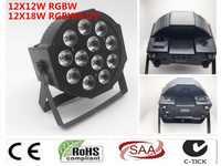CREE RGBWA UV 12x18 W LED Flat SlimPar Quad Luce 6in1 LED DJ Wash Luce Della Fase di dmx luce della lampada 6/10 channes