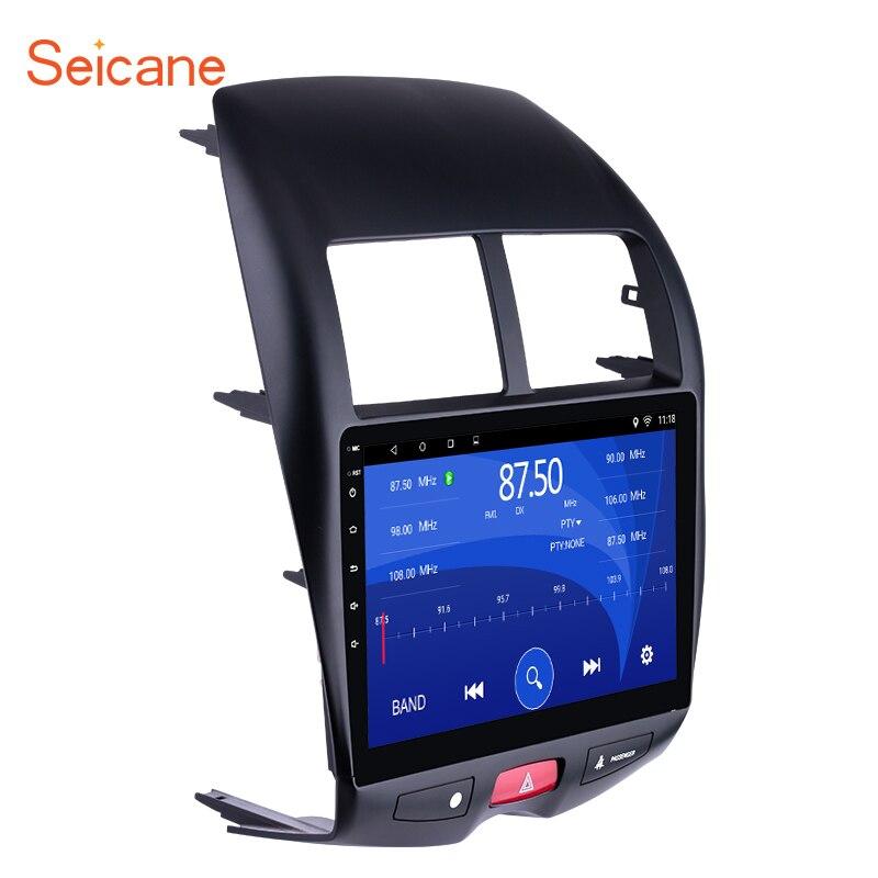 Seicane 10.1 Android 7.1/6.0 HD 1024*600 De Voiture GPS multimédia Radio Navi lecteur Pour 2010- 2015 Mitsubishi ASX Peugeot 4008