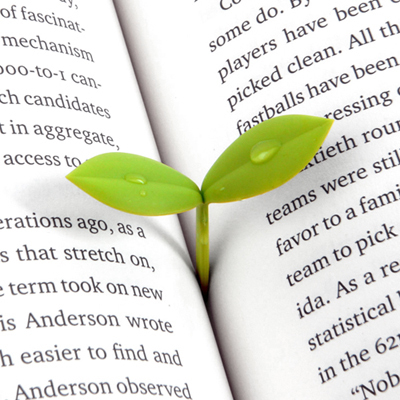 4Pcs/Pack Creative Novelty Sprout Bud Burgreen Bookmark Stationary100% Silicone High Quality