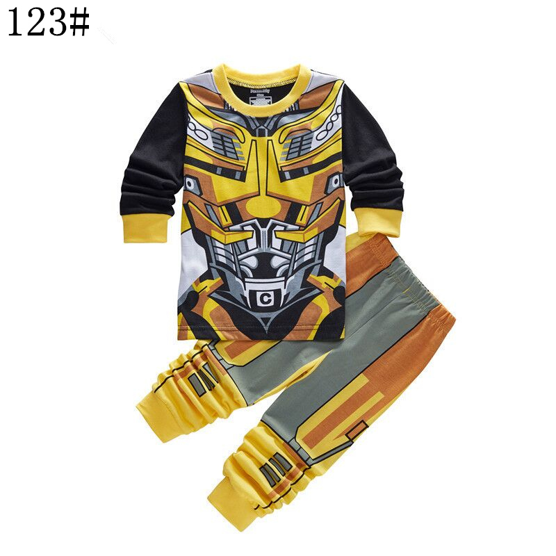 f16a6f34f Children Transformers Pyjamas Clothing Set Baby Girls Boy 100% Cotton  Sleepwear T shirt Pants 2pcs Kids Hello Kitty Pajamas Suit-in Pajama Sets  from Mother ...