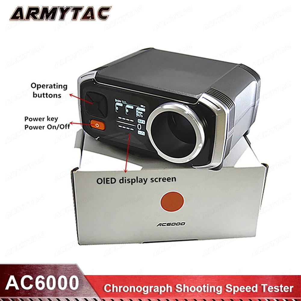 Più nuovo Modello Airsoft AC6000 Cronografo Velocità di Scatto Tester Meglio di X3200 Tiro Speed Tester Cronografo