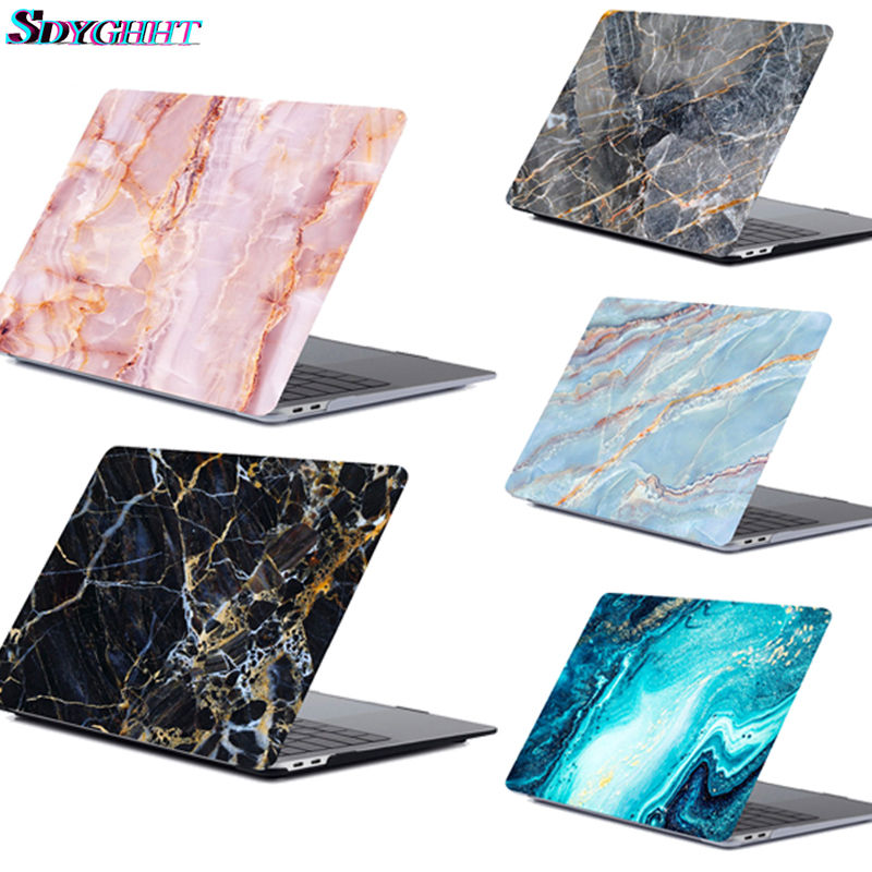 Hot Marble Pattern Laptop Case For Apple <font><b>Macbook</b></font> <font><b>Pro</b></font> Retina Air 11 12 13 15,2018 For Mac new Air/<font><b>pro</b></font> 13 inch A1932 <font><b>A1708</b></font> <font><b>Cover</b></font> image