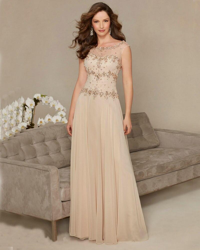 Blue Formal Dresses For Wedding Guests Cap Sleeve Long Wedding Dress