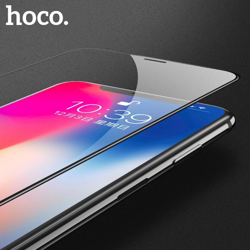Caso di trasporto di HOCO per il iphone di Apple X XS 3D Vetro Temperato Pellicola Della Protezione Dello Schermo Della Copertura Completa per la Protezione Dello Schermo di Tocco per il iphone XS Max XR