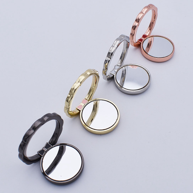 Mobile Phone Stand Support Phone Stand Magnet Finger Ring 360 Degree Rotate Mirror Ring Holds Cell Phone Bracket