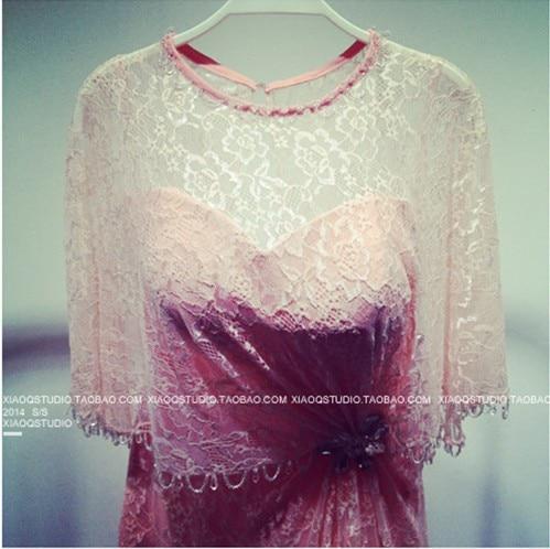 free shipping party dresses crystal women summer dress vestido de festa longo 2018 new fashion long lace evening elegant dress in Evening Dresses from Weddings Events
