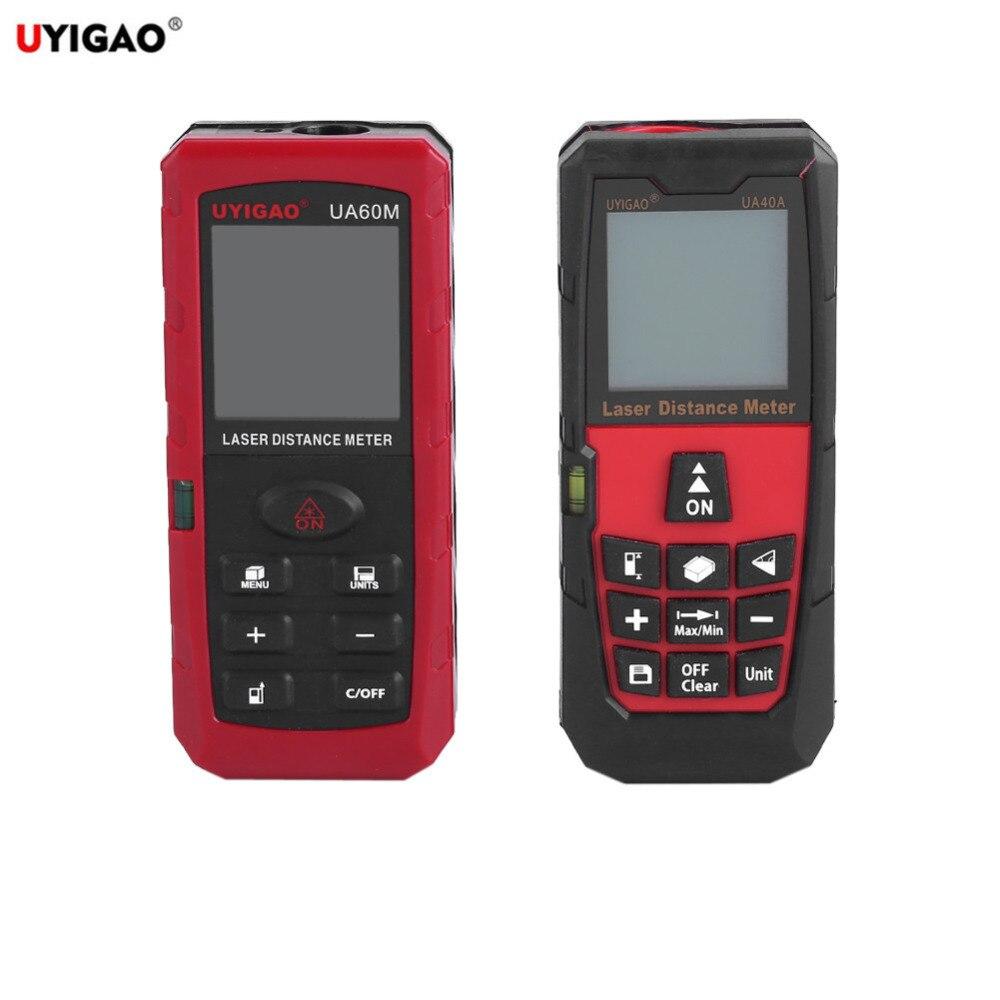 Uyigao лазерный дальномер Расстояние Площадь Объем метр дальномер измерения Diastimeter цифровой ЖК-дисплей дальномер мера 10 ключи