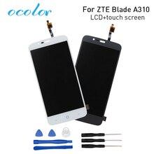 Ocolor สำหรับ ZTE ใบมีด A310 จอแสดงผล LCD + หน้าจอสัมผัสหน้าจอ Digitizer Replacement Assembly สำหรับ ZTE Blade A462 โทรศัพท์ + เครื่องมือ