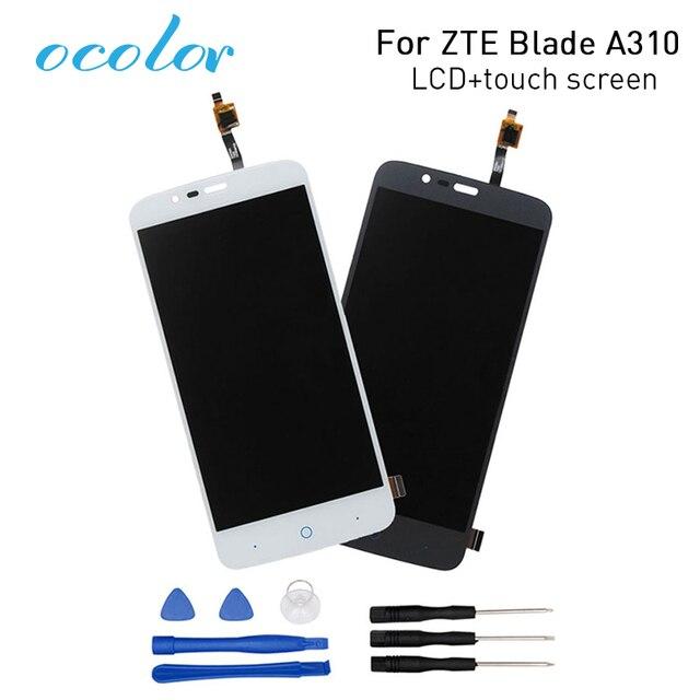 Ocolor ZTE Blade A310 lcd ekran + Dokunmatik Ekran Digitizer Meclisi Değiştirme ZTE Blade A462 Telefon + Araçları