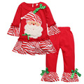 2016 New Christmas clothes Children's clothing Girls clothes girl's christmas tree pattern clothing Dresss+legging2 pcs.set