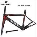 60 см карбоновая рама для велосипеда T1000 углеродная рамка велосипеда гравия рама для велосипеда китайская Гоночная рама для велосипеда DI2 и м...