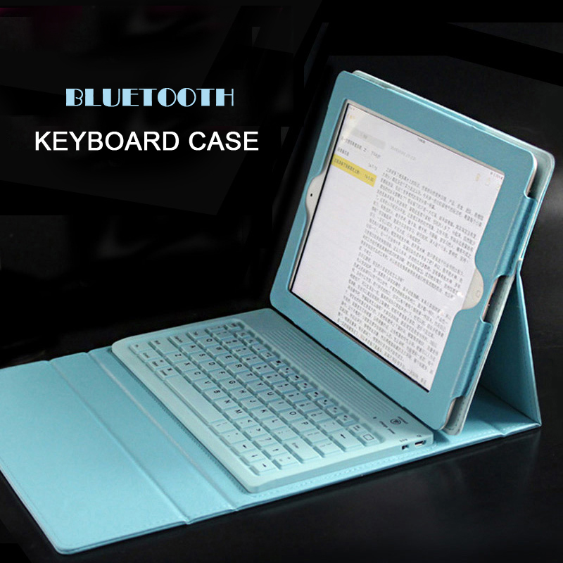 Original Imitate Leather Water Proof Bluetooth Keyboard Shock/Dirt Proof Protective Cover/Case For Apple iPad Air 2 все цены