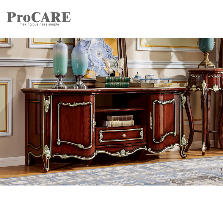 Procare classic style simple tv stand wood tv cabinet - 6822